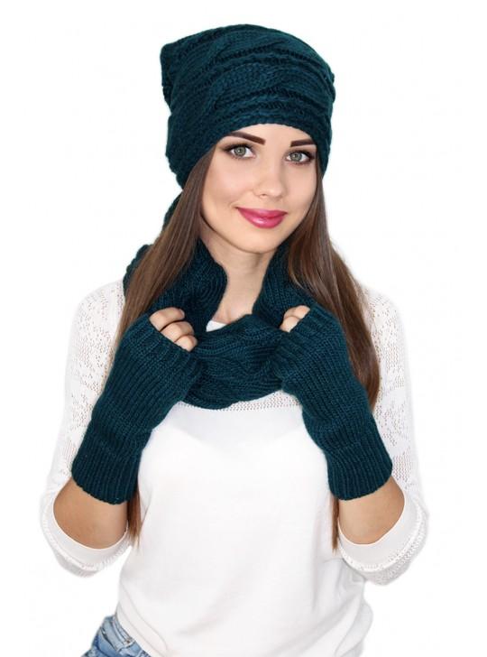 Комплектация: Митенки и шарф