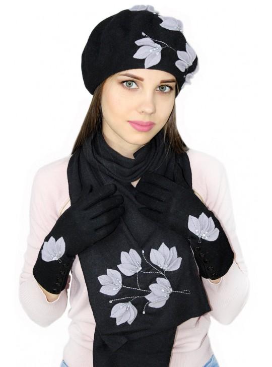 Комплектация: Перчатки и шарф